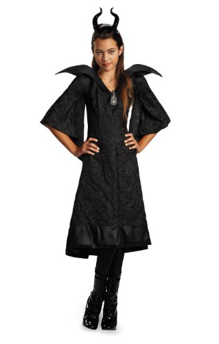Disguise Disney Maleficent Movie Christening Black Gown Girls Classic Costume Lg 10-12 by (Kostüm Halloween Maleficent'kinder)
