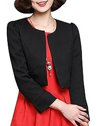 Yasong Women's Girls Long Sleeve Cropped Bolero Jacket Shrug