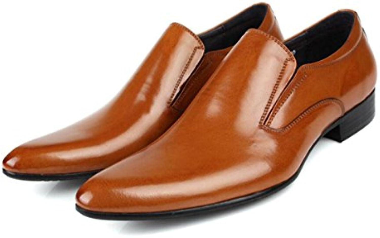 Cuero Hombres Zapatos Casuales Inglaterra Puntiagudos Zapatos De Hombres Negocios Vestido Zapatos Zapatos -