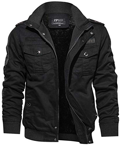 WS668 Herren Winter Vlies Warm Baumwolle Jacken Outdoor Militär Bomber Winddicht Parka Outwear...
