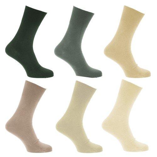 Universal Textiles Calcetines para diabeticos sin elástico pero se mantiene  arriba para hombre caballero - af015935253f
