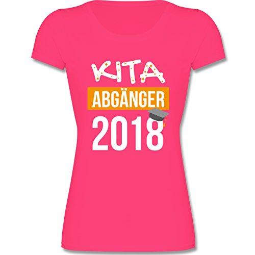Einschulung - Kita Abgänger 2018-140 (9-11 Jahre) - Fuchsia - F288K - Mädchen T-Shirt (Kinder Bekleidung Kleine Fuchsia)