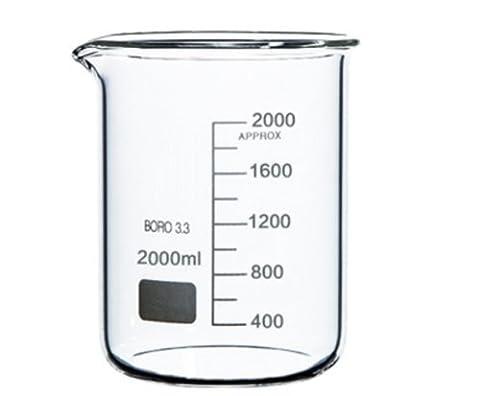 BuyBySky - Borosilicate 3.3 Glass Graduated Measuring Beaker (2L