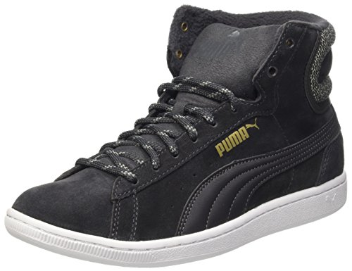 Puma Vikky Mid Twill Sfoam, Sneaker Woman (Basketball), Asphalt, 6 EU