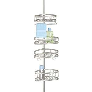 mdesign tag re de douche serviteur de douche tag re de douche t lescopique pour shampooing. Black Bedroom Furniture Sets. Home Design Ideas