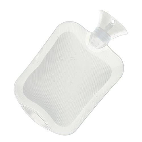 MagiDeal Qualitäts- Wärmflasche 2000 ml, Klar / Transparent Farben - Weiß (Heißes Rückenschmerzen Wasser)