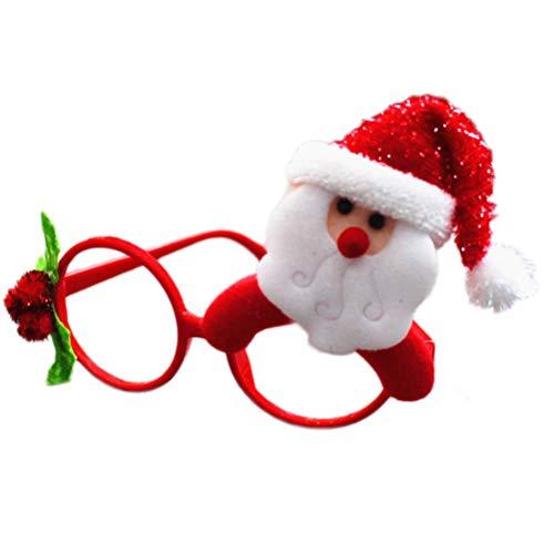 Weihnachtskostüm Lustige - BESTOYARD Weihnachtsbrillengestell Weihnachtskostüm Ornamente Foto Prop für Weihnachtsfeier