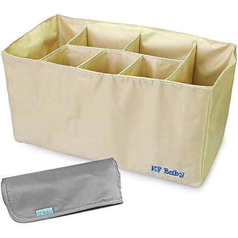 KF Baby–Organizador de pañales (15,2x 7.2x 8Inch, Negro) + Pañales Cambiador Value
