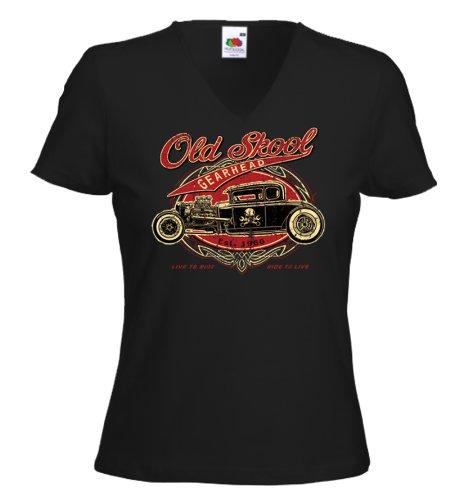 Hot Rod Damen T-Shirt Old Skool Rockabilly Tattoo Surf US V8 Pinup Gr.M - A-rod Shirt