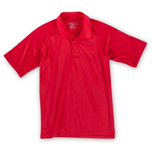 5.11Herren Performance Polo Short Sleeve Shirt mit Emblem Range Red