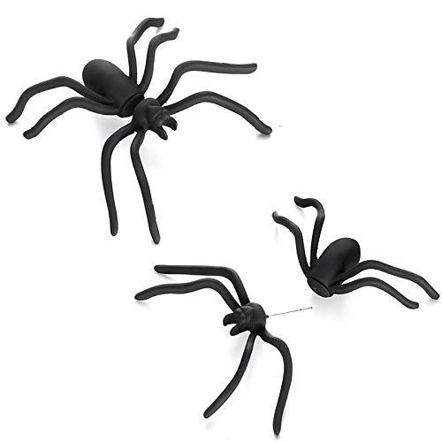 Blisfille Schwarze Spinne Ohrringe Persönlichkeit Ohrringe Punk Lustige Alternative Halloween Körperpunktion Herren Damen Geschenk