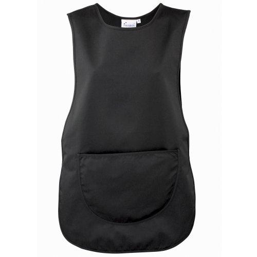 Premier Damen Arbeitsschürze mit Tasche (2XLarge) (Schwarz) (Premier Akzent)