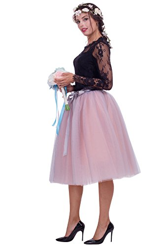Babyonline Damen Petticoat Retro-Faltenrock Unterrock Midi (Tanz Kostüm Nach Maß)
