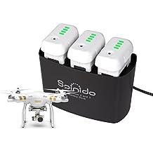 Spinido docking station de carga para las baterías de DJI Phantom 2 y 3, carga en forma automática y inteligente (Negro)