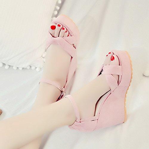 XY&GKWomen's Super Heels Heel Sandalen Sommer 39 Pink