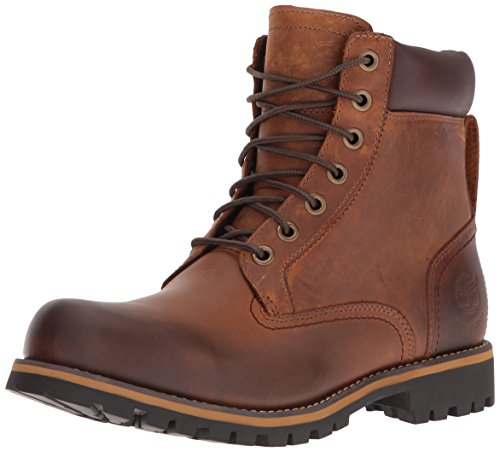 Timberland Rugged WP_Rugged WP_Rugged 6 in Plain Toe WP, Herren Kurzschaft Stiefel, Braun (Copper Roughcut WP), 42 EU