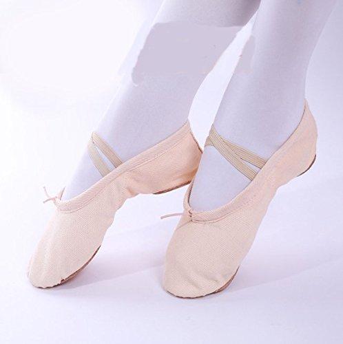 Swallowuk Unisex Erwachsene Kinder Ballett Tanz Gymnastik Sport Hallen Trainings Schläppchen Schuhe (40, Rosa) (Sportschuhe Erwachsene 2)