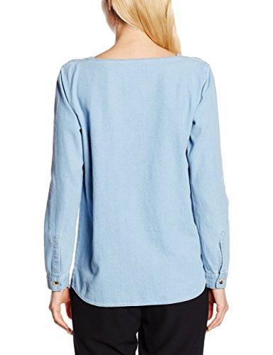 LEON & HARPER Damen Bluse Templeton Weiß - Bleu (Bleach)