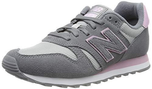 New Balance 373, Zapatillas para Mujer, Gris (Grey/Pink Grey/Pink), 36.5 EU