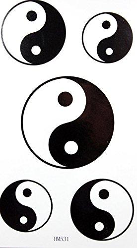 GRASHINE toxiques Tai Chi conception stckers étanches et non de tatouage temporaire