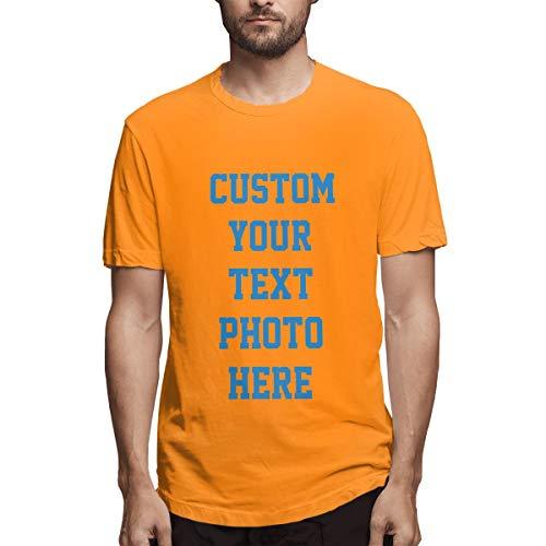 Personalisierte Herrenbekleidung - 2-seitiges T-Shirt - Gestalten Sie Ihr persönliches T-Shirt(Orange S) -