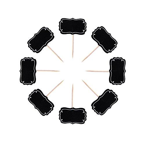 EAST-WEST Trading GmbH 12 x Deko Picker, Chalkboard Picker, Cake-Topper, Kuchenschilder, Cup Cake Schilder, Kuchendeko/Tortendekoration, Deko-Set für Cupcakes, Cupcake Topper (Cup Cake Toppers)