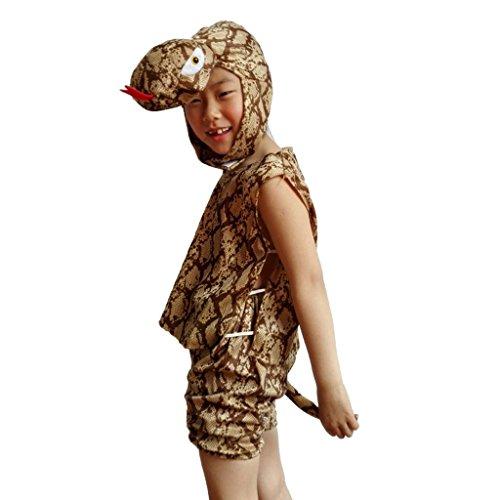 Python Kostüm (Wgwioo Kindergarten Tier Karikatur Python Sammlung Kind Kinder Bühne Aufführungen Kostüm Schule Spiel Party Kleidung Sets . 1# .)