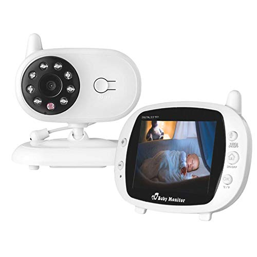 MSQL Video-Baby-Monitor, 3,5-Zoll-LCD-Bildschirm mit Nachtsicht, Zwei-Wege-Rücksprechsystem und
