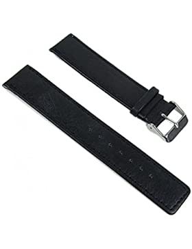 Minott Ersatzband Uhrenarmband Leder Band schwarz 20mm sg-811110101020S