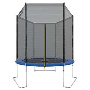 Ultrasport trampoline de jardin Jumper 180cm avec filet de sécurité Bleu