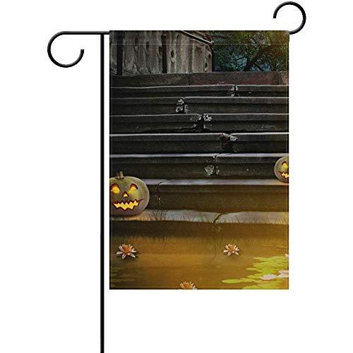 oween Pumpkin Garden Flagge Yard Banner Polyester for Home Flower Pot Outdoor Decor 12