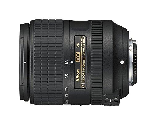 Nikon Nikkor AF-S DX 18-300 mm 1:3,5-6,3G ED VR-Objektiv (inkl. LC-67 Frontdeckel und LF-4 Rückdeckel) schwarz D1x Pro-kit