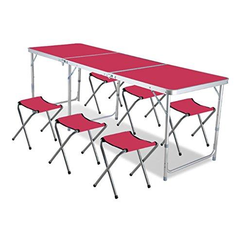 Aluminium Campingtisch Klapptisch Falttisch Gartentisch Picknicktisch Falten