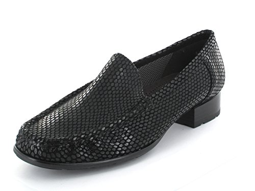 JENNY ARA Jenny Ara Womens Loafer 60107 Atlanta Schwarz 4œ Leather