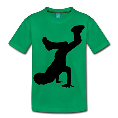 Spreadshirt Breakdancer Silhouette B-Boy Teenager Premium T-Shirt, 146/152 (10...