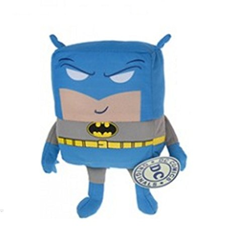 "PLUSH BATMAN JUSTICE LEAGUE 18CM CUBIES - 5.5"" Cube - SOFT TOY - DC COMICS - TEDDY BATMAN / SUPERMAN / THE FLASH"