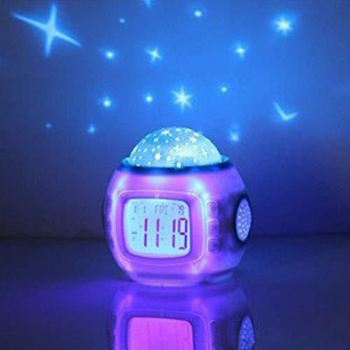 PTICA Musik Sternenhimmel Projektionswecker Snooze Digital LED Wecker Kalender Thermometer Projektionslicht Kinder Spielzeug
