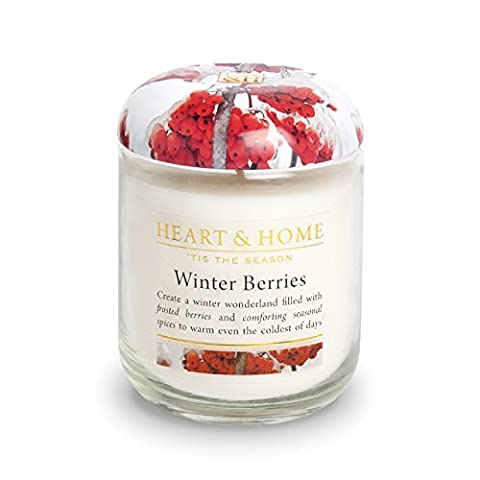 Heart & Home Winter Berries Small Soy Wax Candle