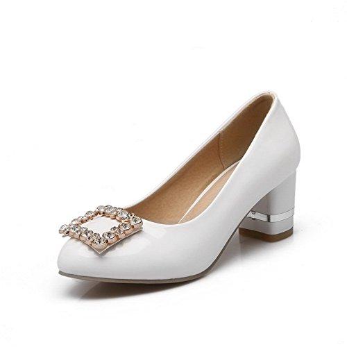BalaMasa, antiscivolo, tacco basso, in pelle, per scarpe e pompe White