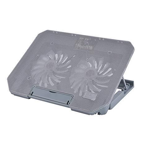 15,6-Zoll-Thin-Light-Notebook-Kühler großer Lüfter, USB-Schnittstelle, effiziente Computer-Kühlkissen Kühlpads (Farbe : Gray)