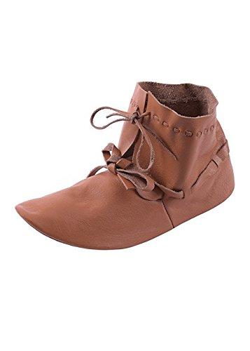 Halbstiefel Hochmittelalter aus Leder, wendegenäht - Mittelalter, LARP Wikinger Schuhe Stiefel Schuhgröße 41