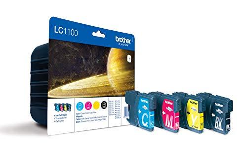 Brother LC1100 Original Tintenpatronen Value Pack (schwarz, gelb, cyan, magenta)
