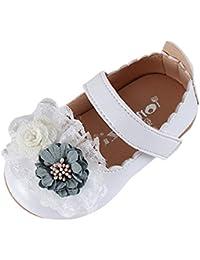 Scarpe Bambina Carnevale Ballerine Bambine Eleganti Paillettes Fiori Dolce Elegante  Mary Jane Ragazza Tacco Basso Scarpette 8d563eb3bc6
