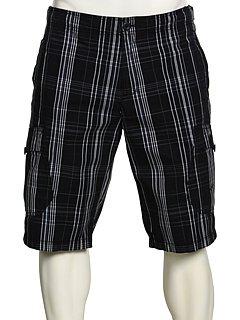Hosen Thermo Nike (Nike Cotton Checkered Short, Kurze Hose - Ideal für alle In- und Outdoor Aktivitäten - Schwarz - 100% Baumwolle - Größe Medium)
