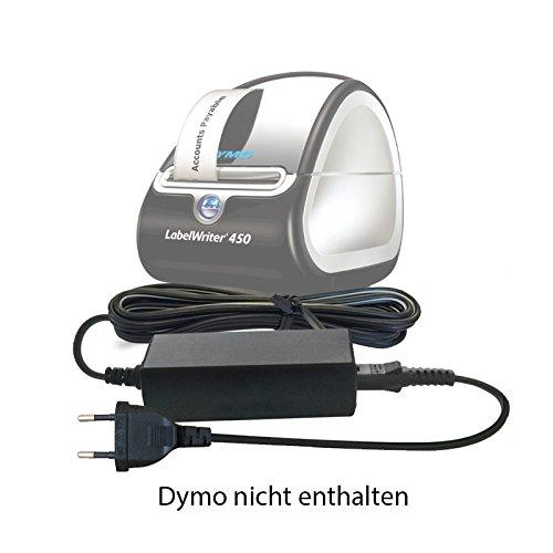 Ersatz Dymo DC 24V / 24 V Volt Netzteil, Netzadapter, Netzanschluss für Dymo 4XL, 310, 315, 320, 330, 400, 450 Tragbares Beschriftungsgerät/Etikettendrucker / Label Printer/Label Thermal - Dc Thermal