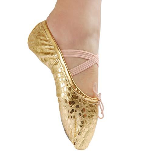 KasenA Zapatos Bailarina Para Mujer De Cuero Práctica En El Interior,Gimnasia De Baile Latino,Rendimiento...