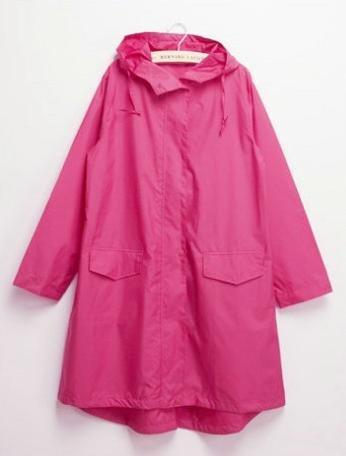 Ducomi Damen Regenjacke Mehrfarbig Blue Pois Pink