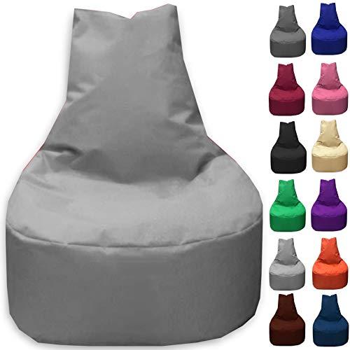 Sitzbag Sitzsack Sessel XL - XXL für Kinder und Erwachsene - In & Outdoor Sitzsäcke Kissen Sofa Hocker Sitzkissen Bodenkissen (XL - 68cm Durchmesser, Grau) (Günstige Sitzsäcke Für Kinder)