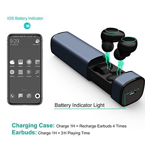Arbily Auricolari Wireless Cuffie Bluetooth 5.0 Mini Cuffie in Ear con  Scatola Ricarica Auricolare Stereo Palestra Sport Gym con Microfono per  iPhone ... f0d1da6354ab