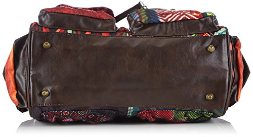 Desigual Bols Lond Medium Seduccio Carry, Sac bandoulière Multicolore (7005 Caldera)